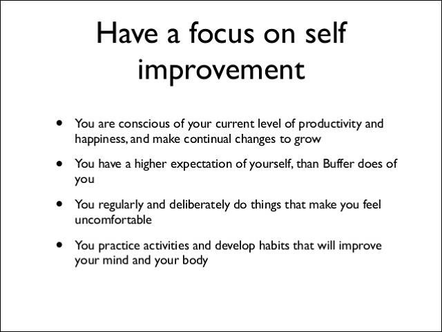 continual self development