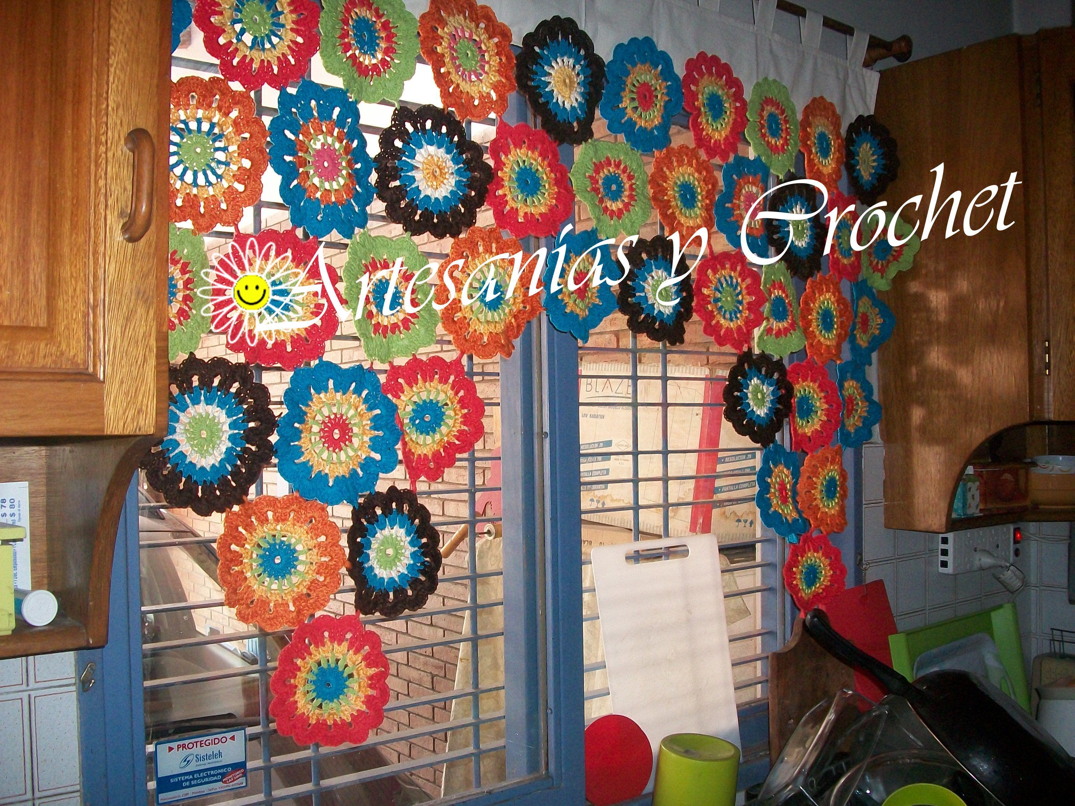 Cortina para cocina crochet divino crochet trabajos - Cortinas decorativas para cocina ...