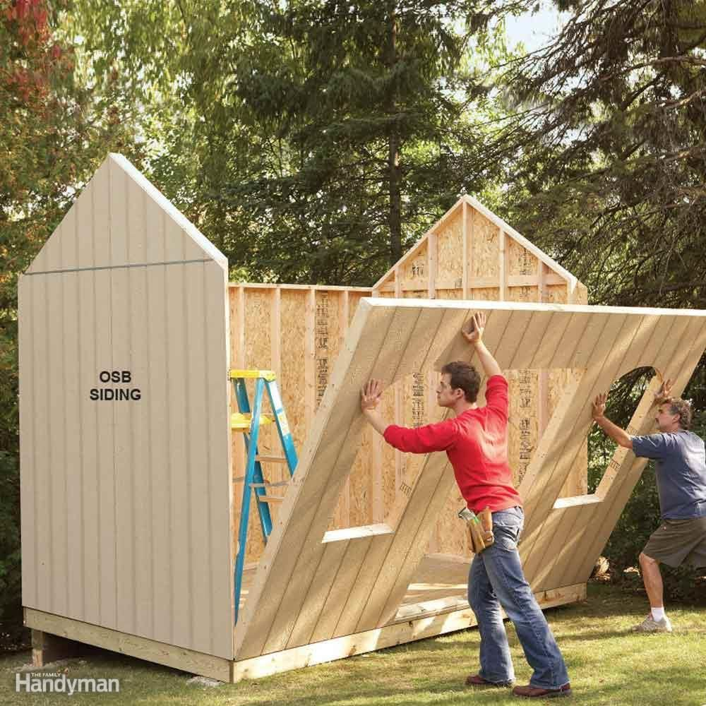 Diy shed building tips window oriented strand board and for Design and build your own shed
