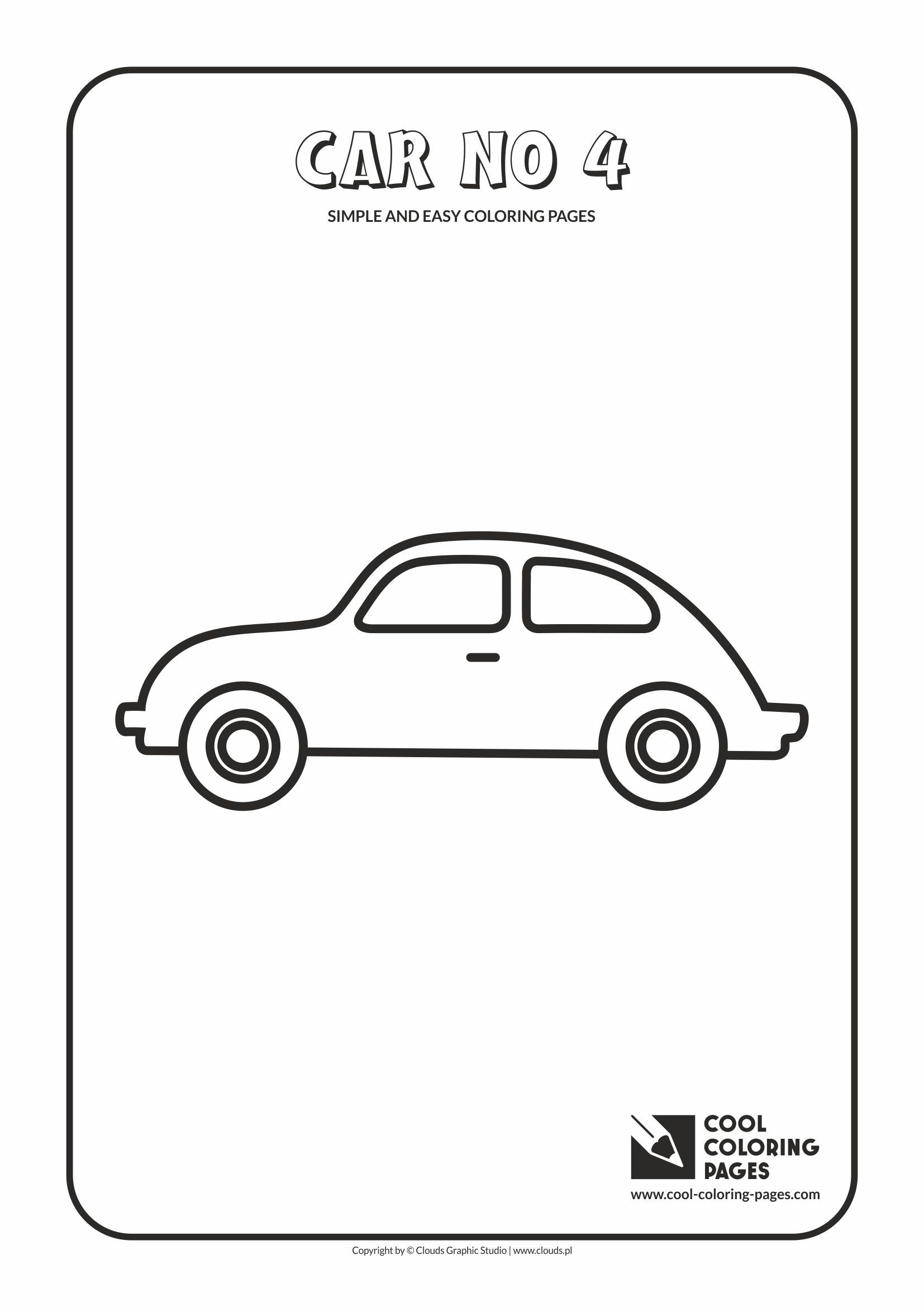 simple and easy coloring pages for toddlers car no 4
