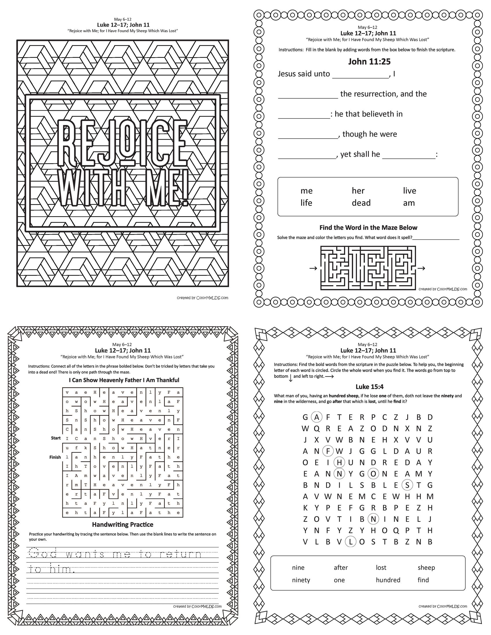 Pin On Come Follow Me Junior Primary Handouts Puzzles