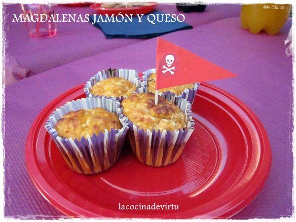 La Cocina De Virtu Magdalenas Saladas Jamón York Y Queso Magdalenas Saladas Magdalenas Jamón Y Queso