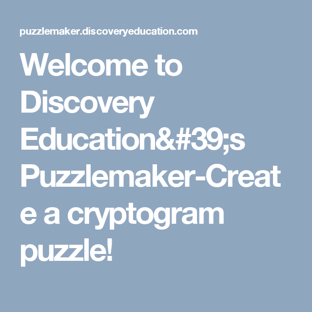 Welcome to Discovery Education's Puzzlemaker-Create a ...