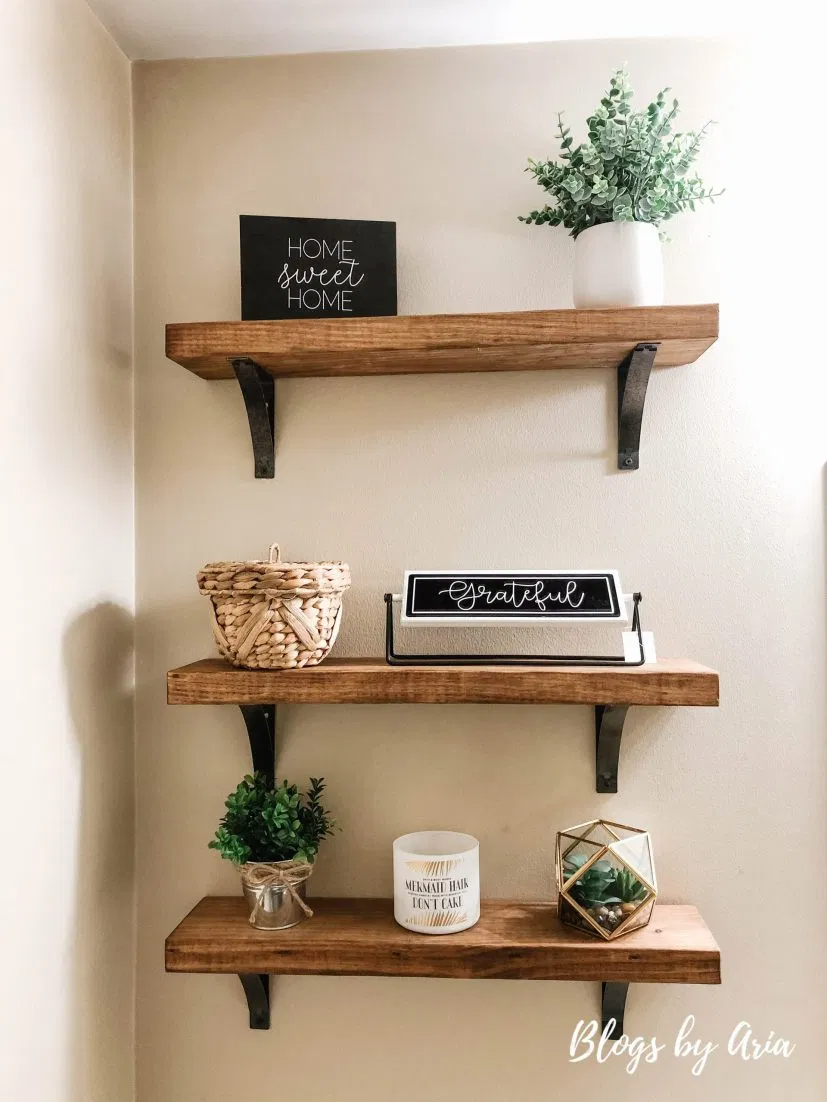 Photo of Powder Bathroom Floating Shelves – Blogs by Aria