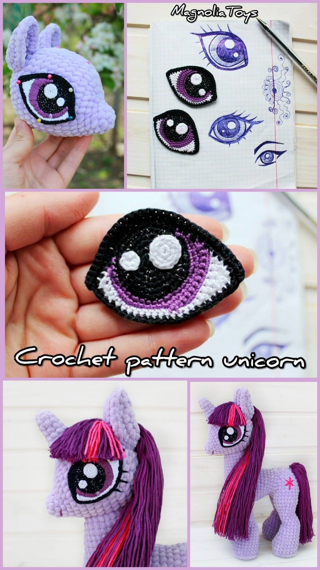 Crochet unicorn, Amigurumi pattern, Alicorn Unicorn soft toy My little pony plush Amigurumi unicorn doll Horse crochet Plush unicorn pattern Crochet unicorn, Amigurumi pattern, Alicorn Unicorn soft toy My little pony plush Amigurumi unicorn doll Horse crochet Plush unicorn pattern PLEASE NOTE: THE LISTING IS A PDF INSTANT DOWNLOAD CROCHET PATTERN, NOT A FINISHED PRODUCT This is an 60 pages PDF pattern (with step by step photos) - Available in English (US terms)  This pattern is suitable for thos #littleunicorn
