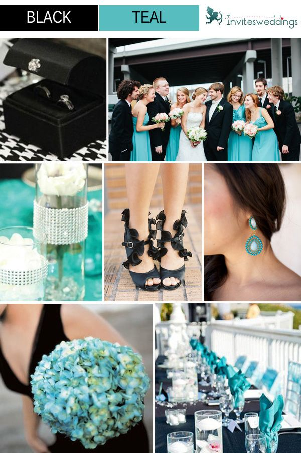 Classic Black Wedding Color Ideas And Invitations 2014