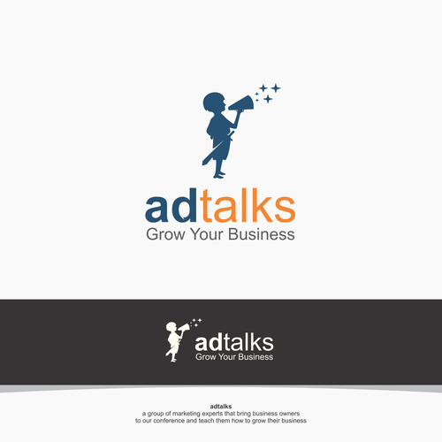 Ad Talks Ad Talks Needs A Smart Logo Complementing Its Wizard Of Ads Cousin We Re A Group Business Logo Design Professional Business Cards Free Business Logo