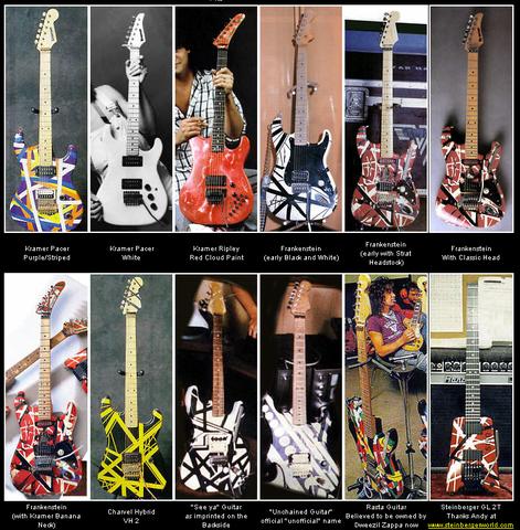 Van Halen Guitars 2 Van Halen Eddie Van Halen Famous Guitars