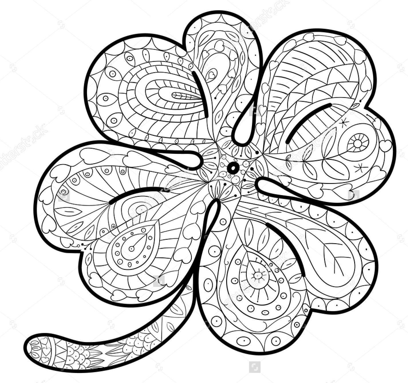 St. Patrick's Day Coloring Pages | Hallmark Ideas & Inspiration | 1337x1425