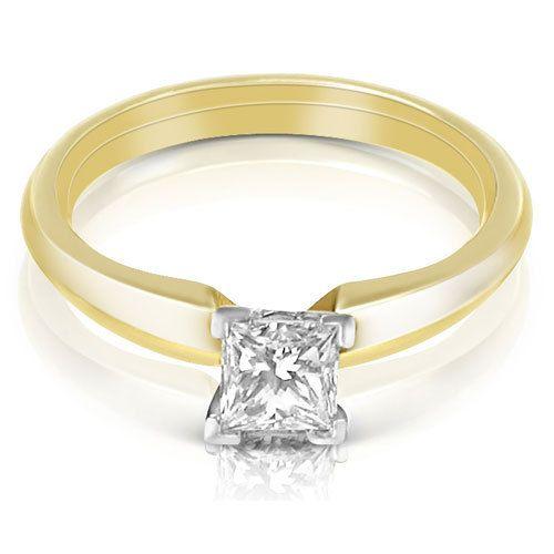 Aurella - 0.25CT Princess Cut Diamond Solitaire Ring - Yellow gold, £620.00 (http://www.aurella.co/0-25ct-princess-cut-diamond-solitaire-ring-yellow-gold/)