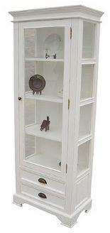 Exceptionnel Distressed White Curio Cabinet