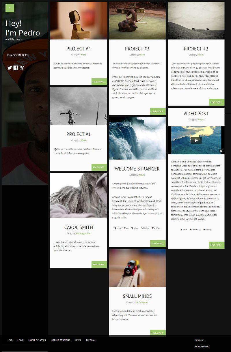 Sidewinder - Responsive #Joomla Blog, Portfolio Template http://www ...
