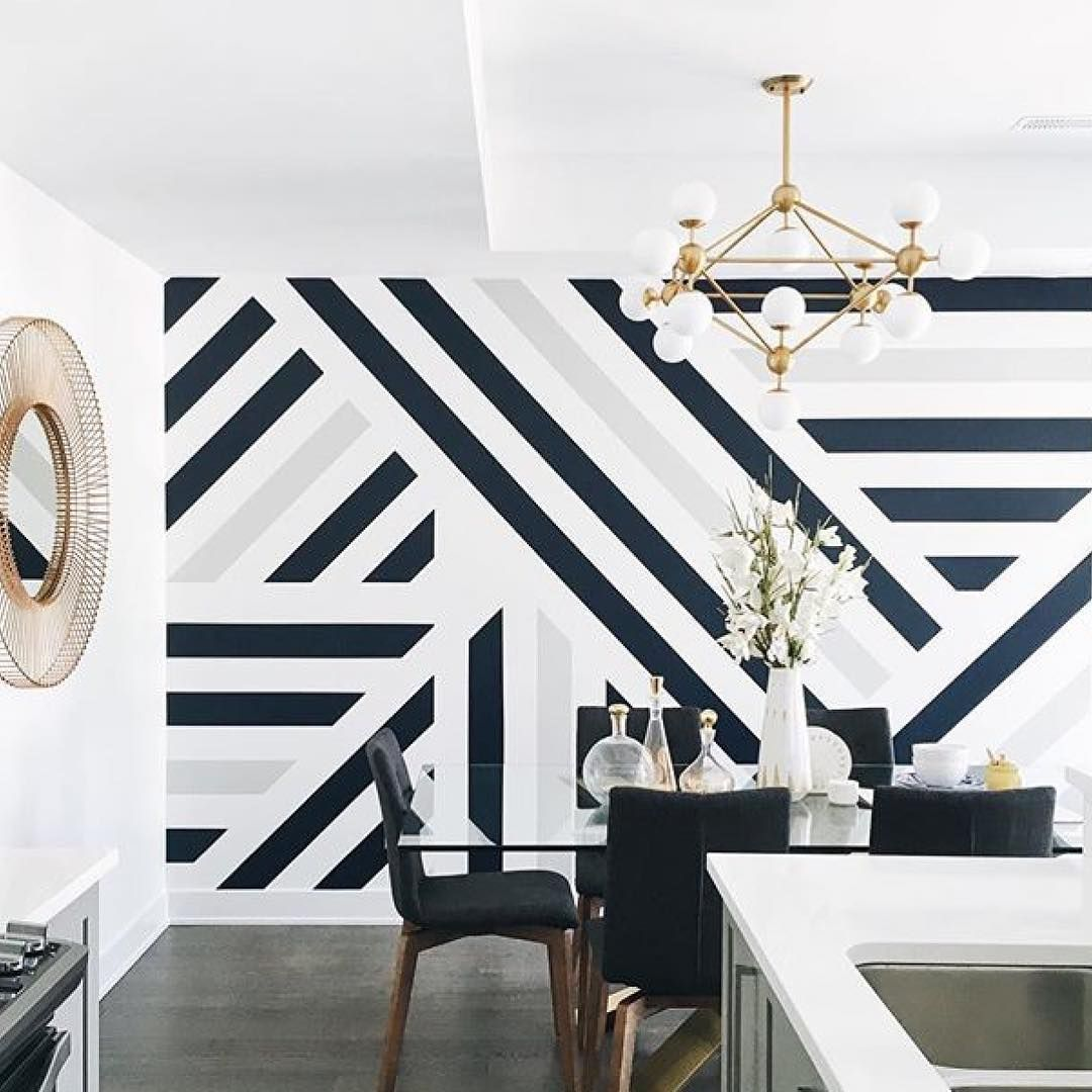 Image result for large scale geometric wallpaper  Bedroom wall
