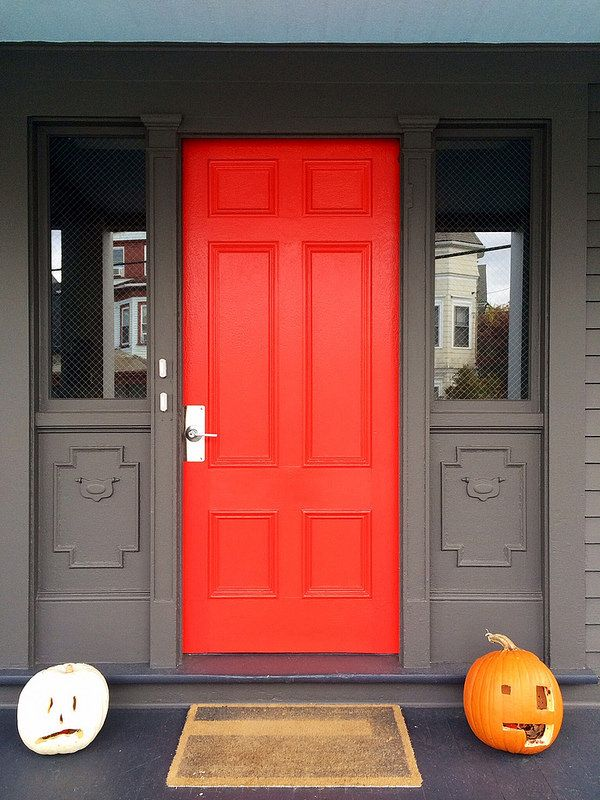 Sherwin Williams Vermillion Red Orange Front Door