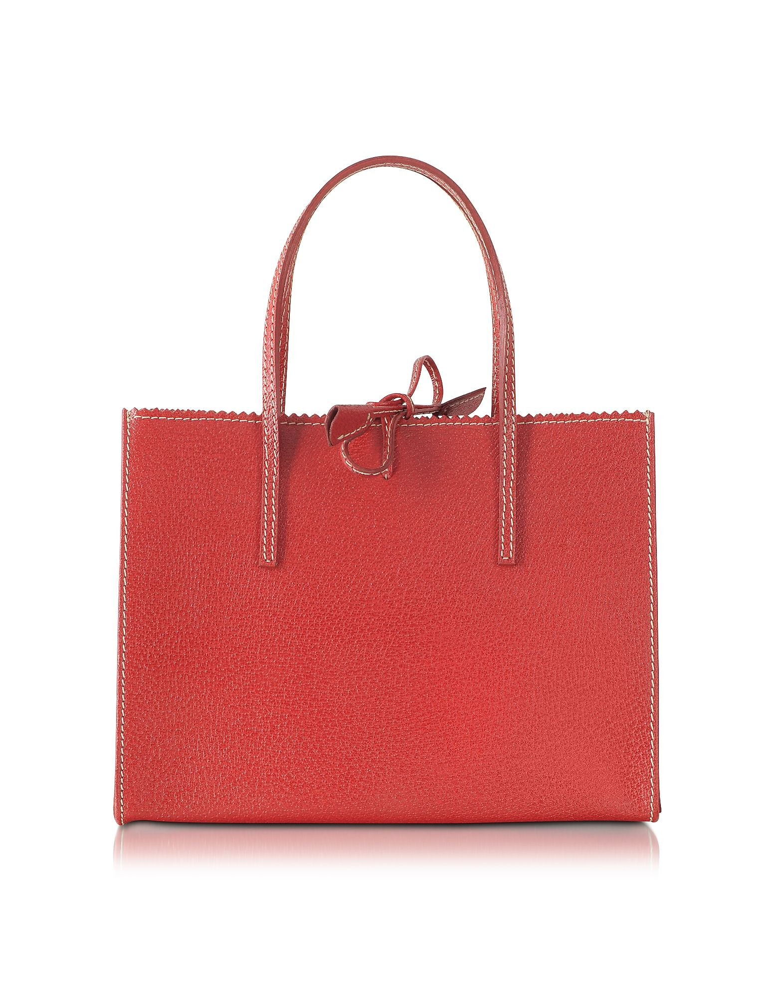 Buti Red Small Wild Boar Leather Tote