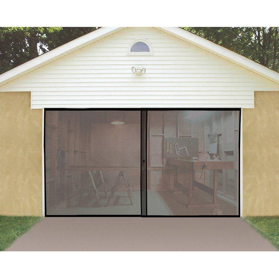 Garage Screen Door With Magnetic Center Snap Closure 8 W X 7 L Walmart Com In 2020 Garage Door Styles Garage Screen Door Garage Doors