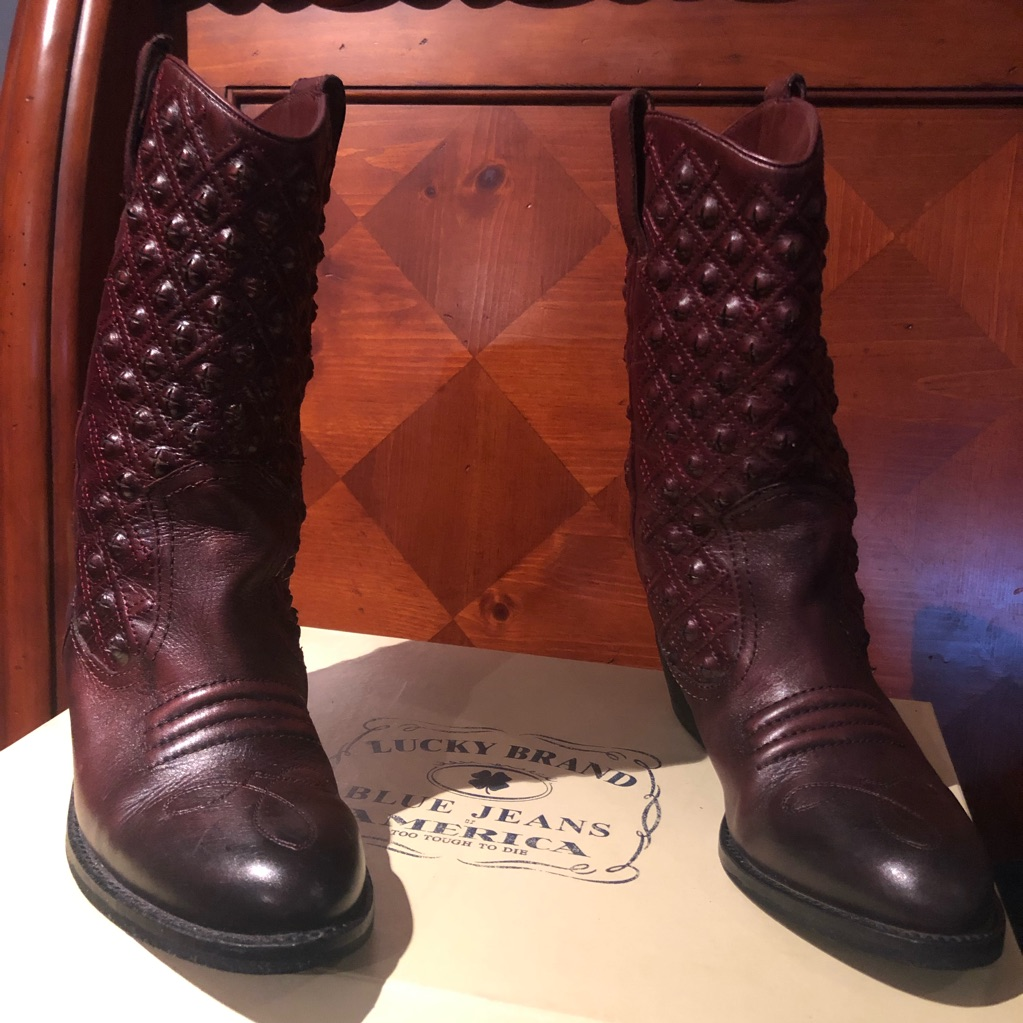 Lucky Brand Shoes Lucky Brand Wine Color Cow Girl Boots Color Red Size 8 Girls Boots Cowgirl Boots Lucky Brand Shoes