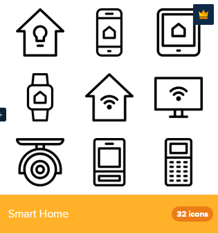 32 Premium Vector Icons Of Smart Home Designed By Deemakdaksina Home Icon Smart Home Design Smart Home