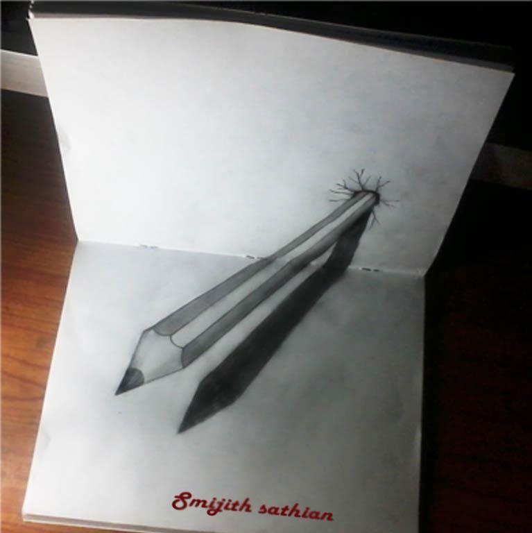 pencil - 3D Art by Smijith Sathian in my arts,my life at ...