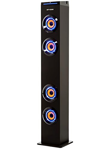 Art Sound Ar1004 Wall Powered Bluetooth Tower Speaker With Lights Works With Amazon Echo Dot Floorstan Tower Speakers Car Tracking Device Gps Tracking Device