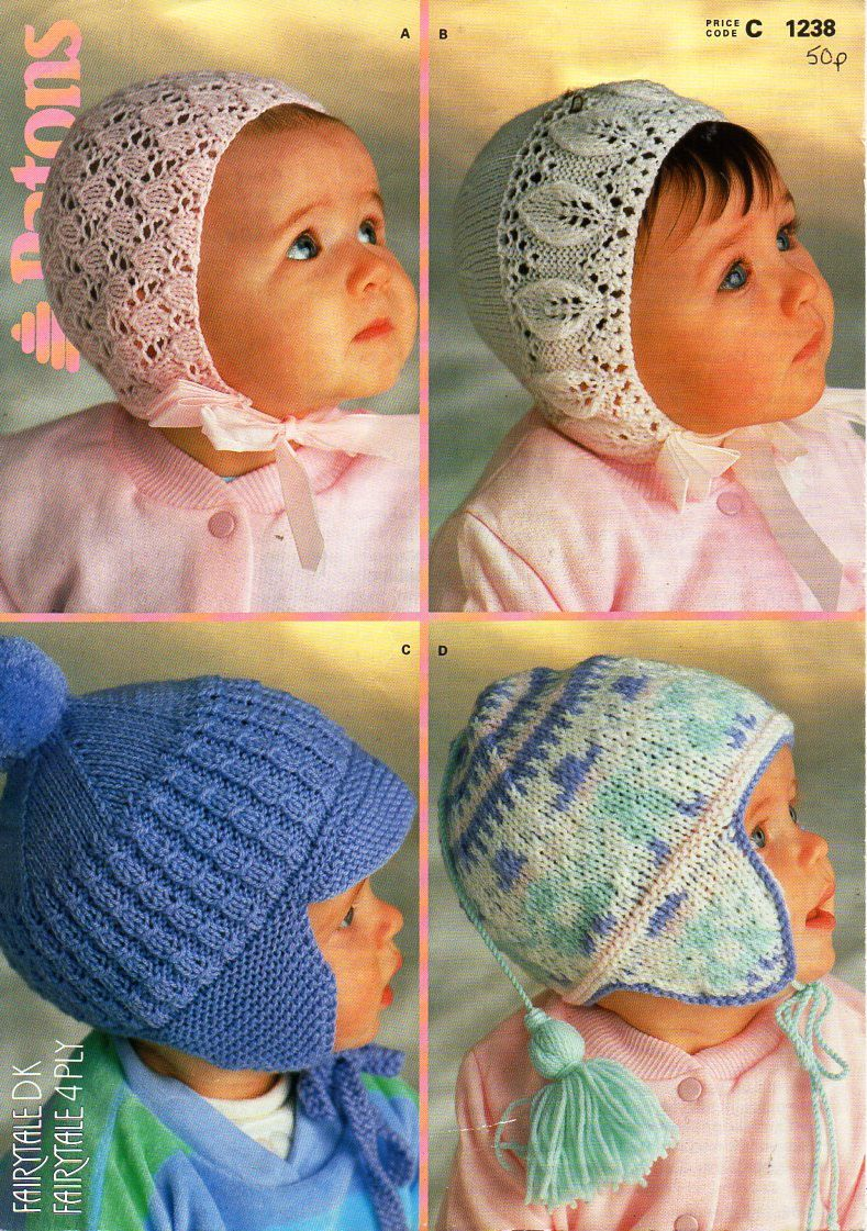 1f1cd4f7174 baby hats knit pattern pdf baby lacy 4 ply bonnets 0-6mths baby DK helmets  9-15mths ear flaps 4 ply 8 ply baby knitting pattern pdf download by  Minihobo on ...