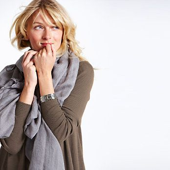 Buy Clothing > Scarves > Woven Scarf - Grey from The White Company