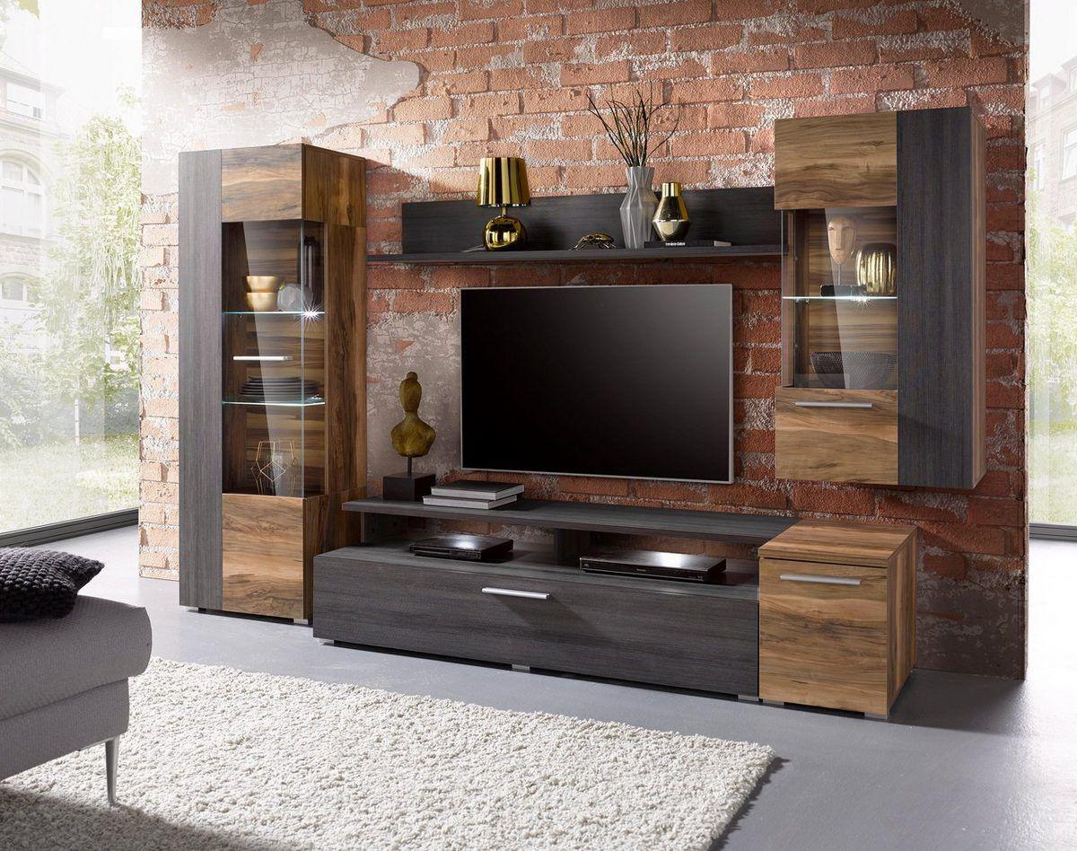 Wohnwand Set 5 Tlg Ideal Fur Kleine Raume Online Kaufen Otto Wohnen Wohnzimmer Tv Wand Ideen Wohnzimmerschranke