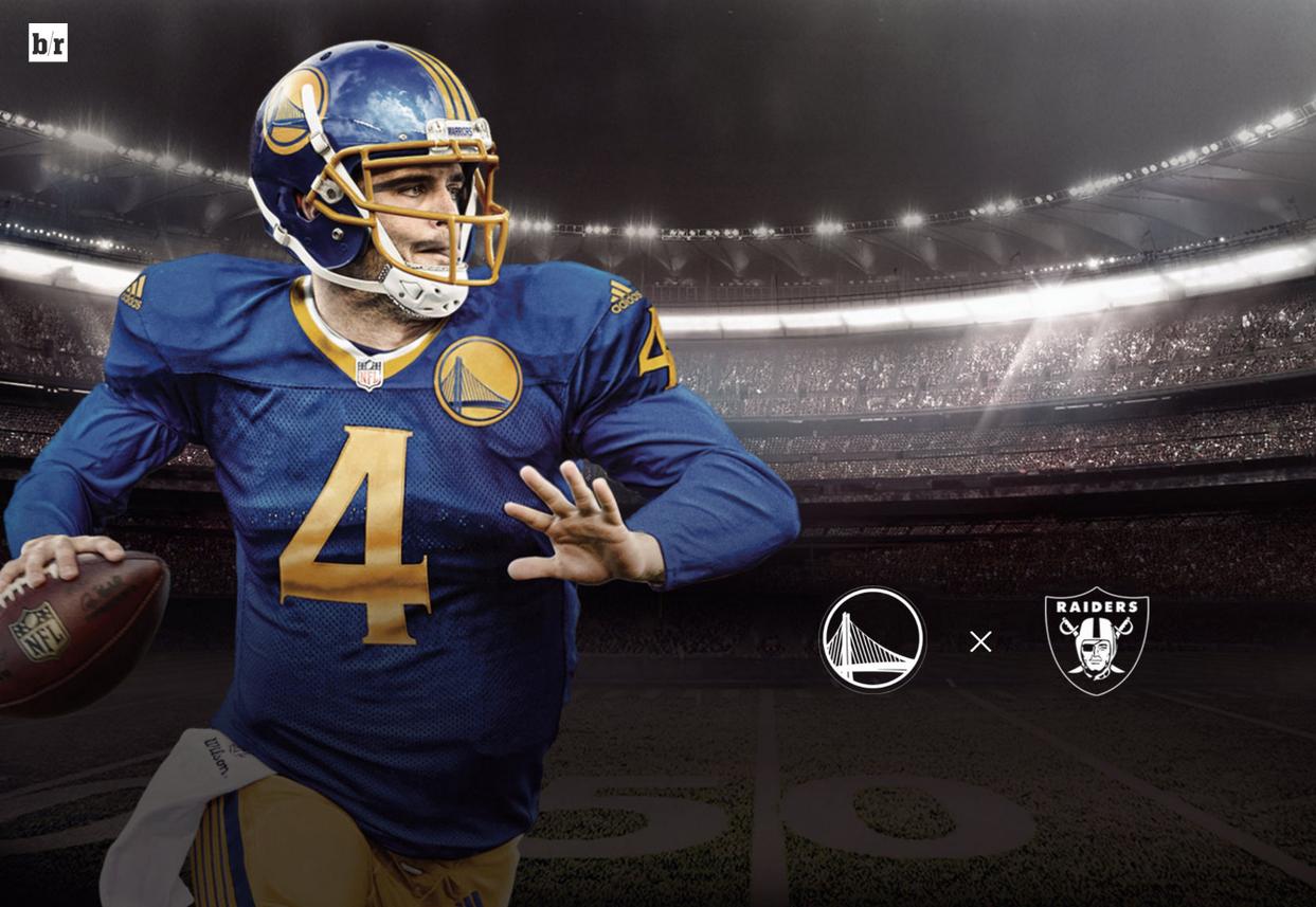 Golden State Warriors Derek Carr Warriors Football Football Uniforms Football Helmets