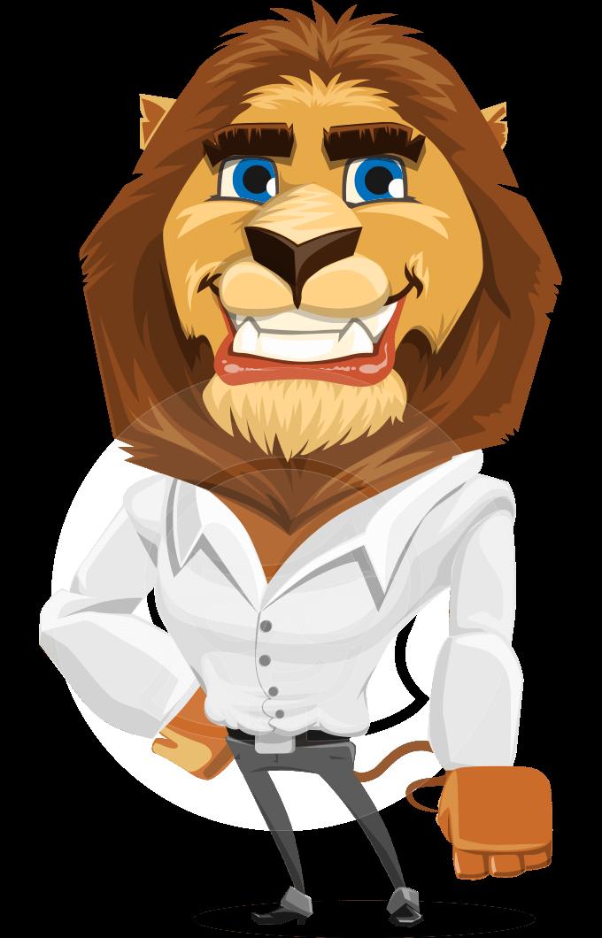 businessman lion character design graphicmama animal. Black Bedroom Furniture Sets. Home Design Ideas