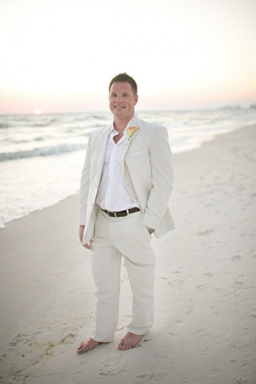 46 Cool Beach Wedding Groom Attire Ideas | Weddingomania | beach ...
