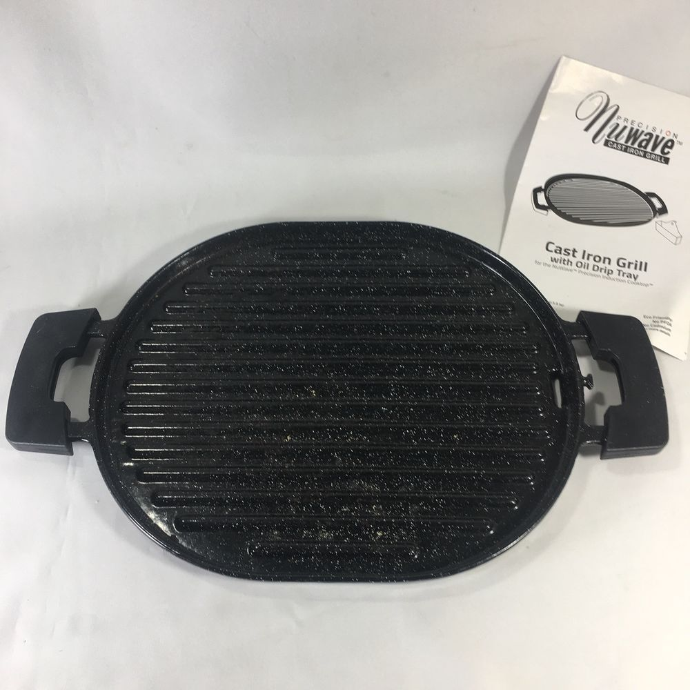 Designed To Work Exclusively With The Nuwave Pic The Cast Iron Grill Allows You To Grill Your Favorite Foods Year Round Rain Drip Tray Cast Iron Grill Cast Iron Griddle