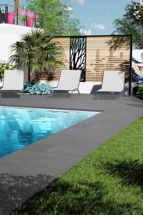 Photo of Création d'un jardin Contemporain pour cette Villa neuve. Conception paysagère…