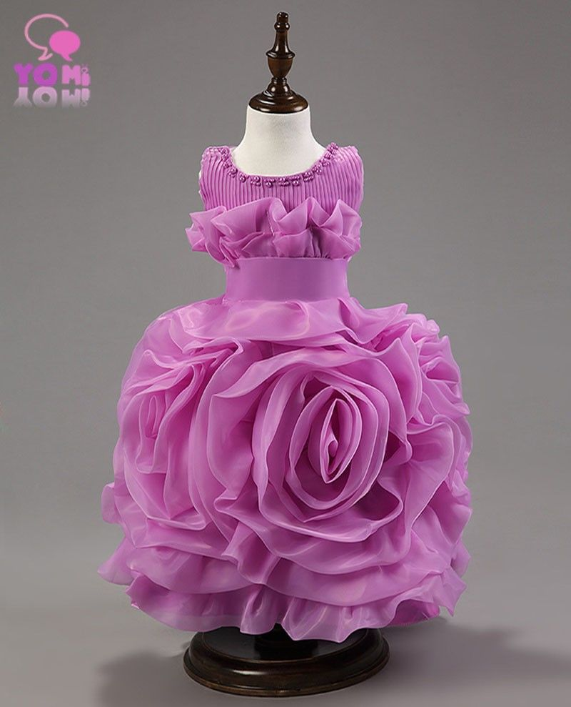 girls princess dress 2015 new fashion children flower solid ...