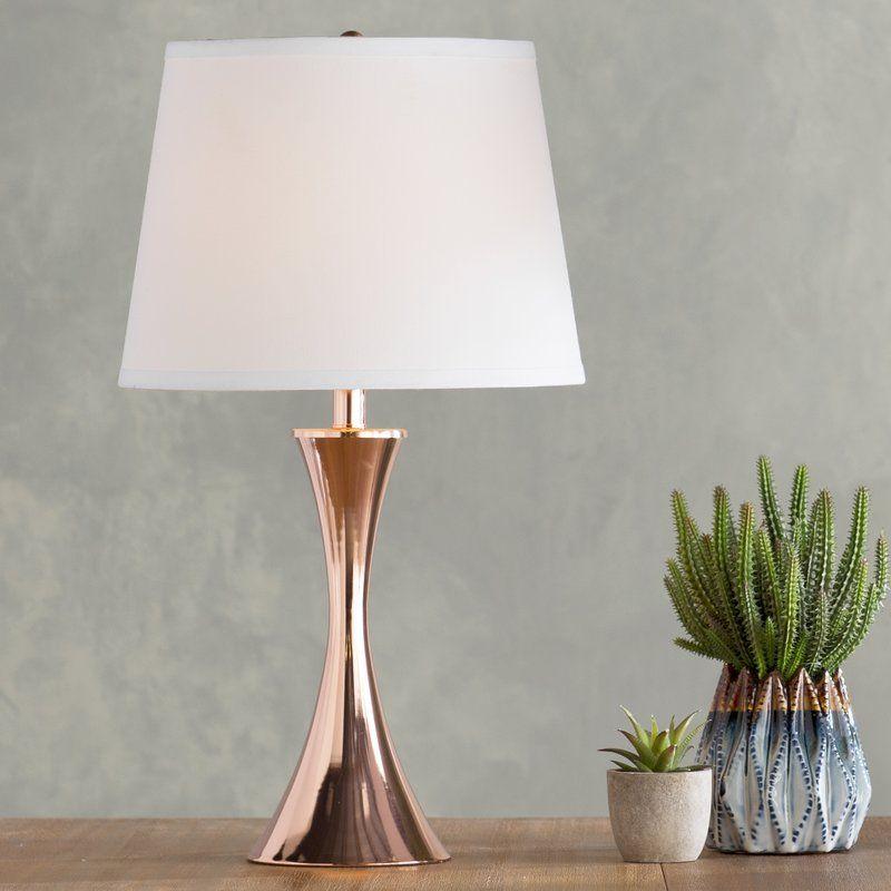 "Aveline 27"" Table Lamp | Rose gold lamp, Room lamp, Table lamp"