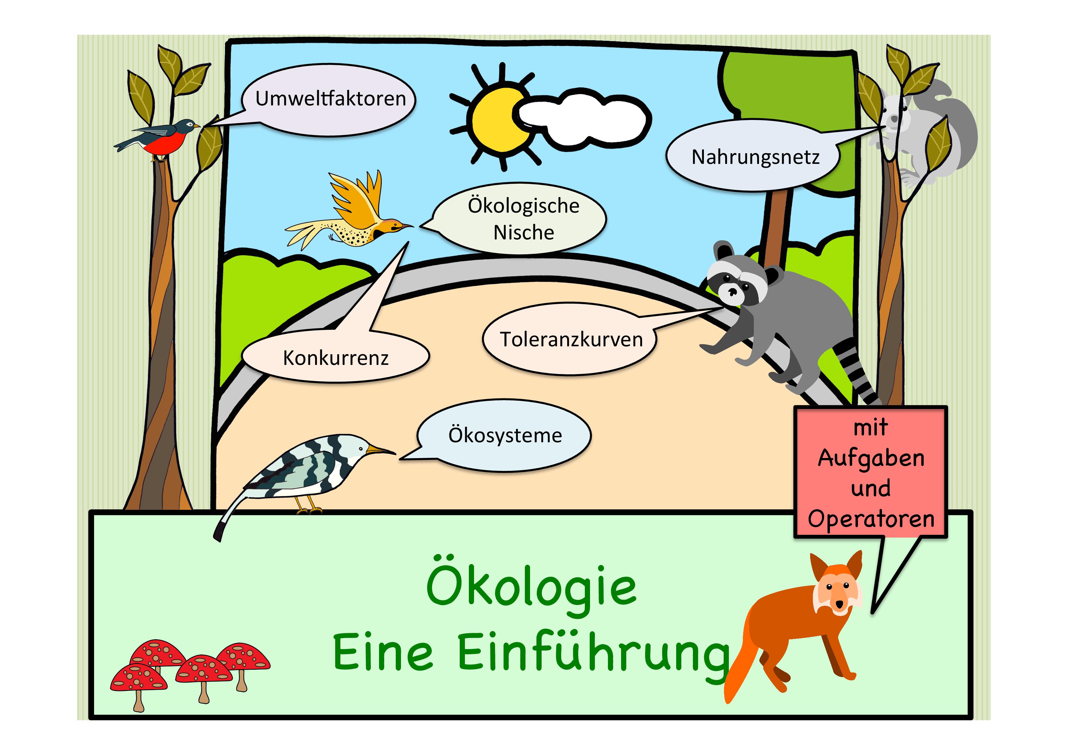Okologie Eine Einfuhrung Okosysteme Umweltfaktoren Okologische Nische Habitat Nahrungsnetz Unterrichtsmaterial Im Fach Biologie In 2020 Okologie Lehrer Planer Unterrichten