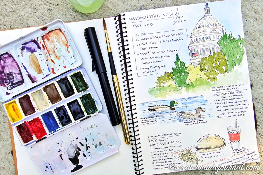 Holbein Multimedia Pad Review Watercolor Journal Sketchbook