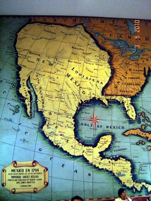 Mapa de México en 1794, en el Gran Salón \