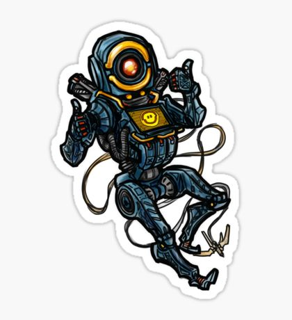 Pathfinder Apex Legends Sticker By Ted Bailey Pathfinder Baby Month Stickers Legend Drawing