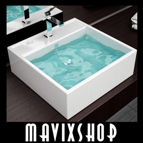 Lavabo Ceramica Per Bagno.Lavabo Ceramica Design Moderno Bianco Arredamento Casa Bagno Eliana