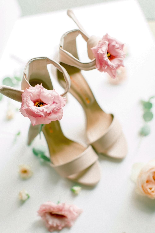 Bright White And Green Italian Farmhouse Wedding Pink Wedding
