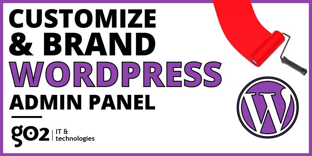 wordpress administration panels