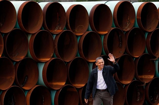 US President Barack Obama rejects pipeline to transport oil from Canada's tar sands to refineries along the Gulf of Mexico.
