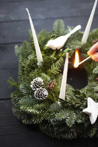 Advent candle wreath via la cuisine petite
