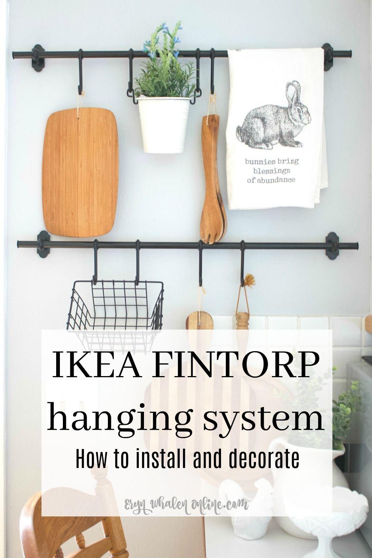 Ikea Fintorp Hanging System Installation Decorating Decor Ikea Ikea Bar