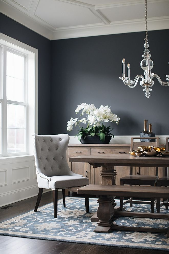 Benjamin Moore Charcoal Slate Benjamin Moore Charcoal Slate Benjamin Moore Charcoal Slate Benjaminmoore Dining Room Colors Dining Room Paint Dining Room Decor