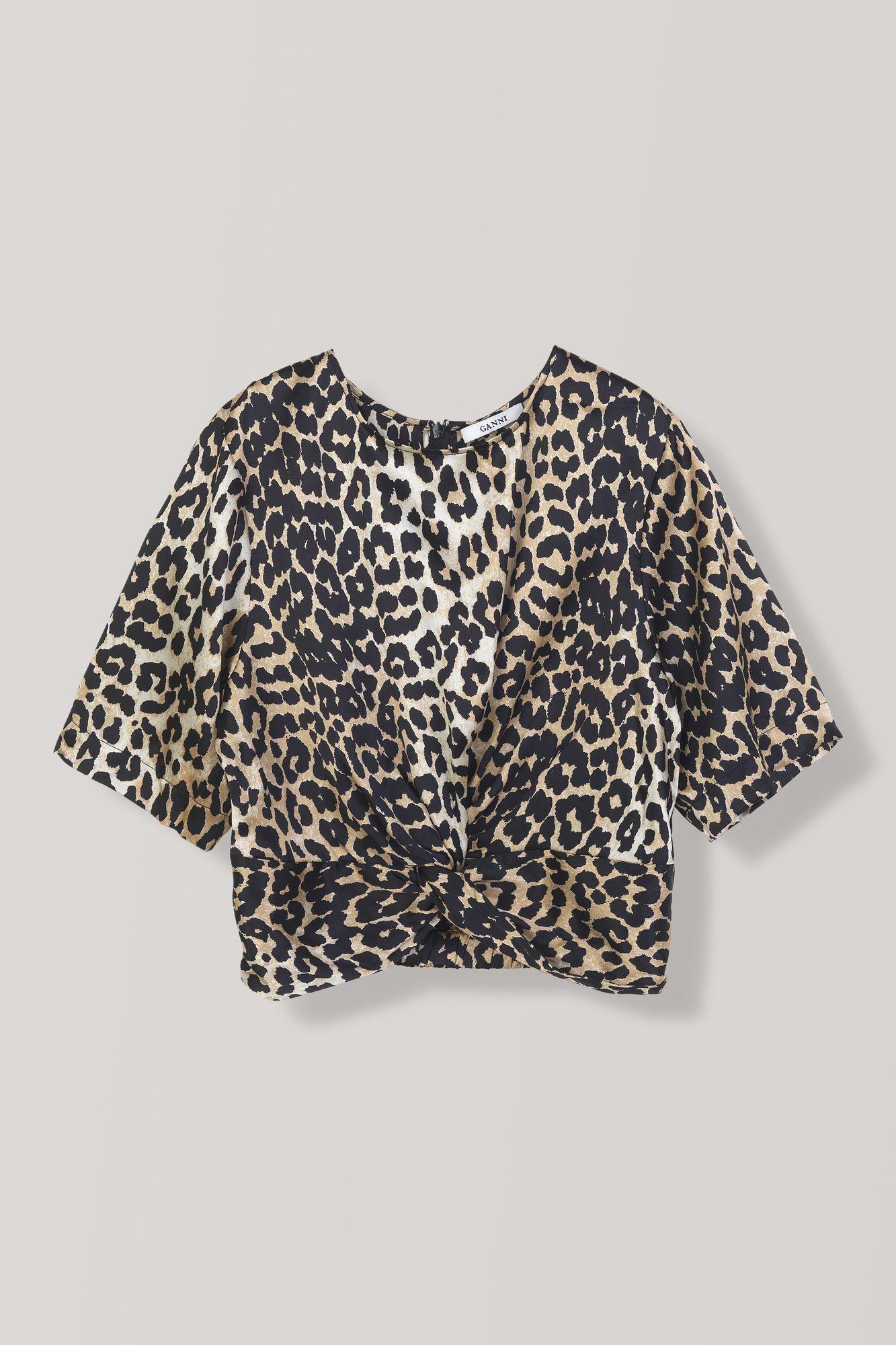 1a920253 Calla Silk Twist Blouse, Leopard | Clothes to Envy | Blouse, Tops ...