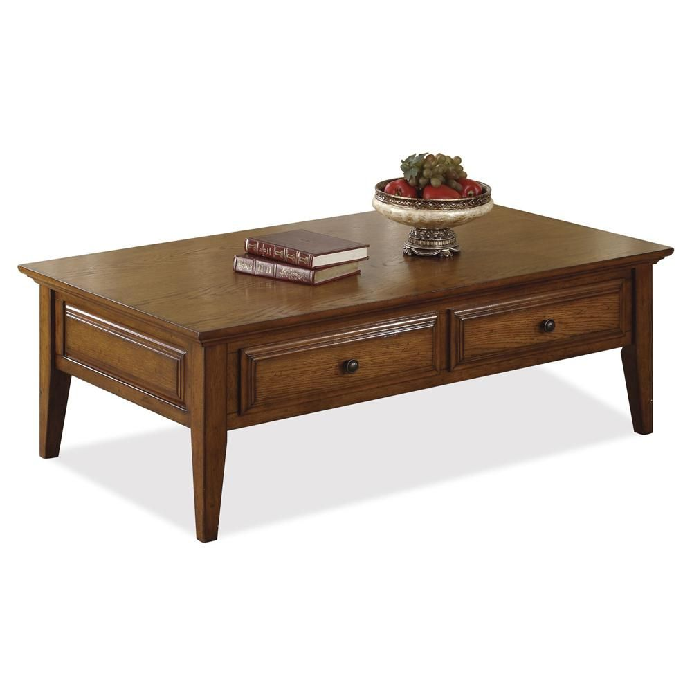 Delicieux Oak Ridge 2 Drawer Coffee Table By Riverside Furniture | Wolf Furniture