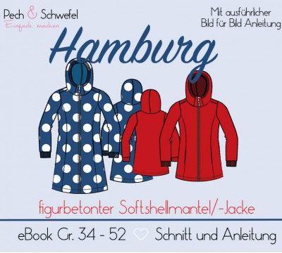 bb1f8a60a8 Ebook - Softshellmantel / -Jacke Hamburg für Damen (in A4 und A0 ...