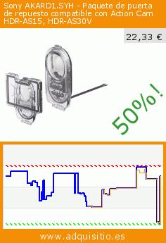 Sony AKARD1.SYH - Paquete de puerta de repuesto compatible con Action Cam HDR-AS15, HDR-AS30V (Accesorio). Baja 50%! Precio actual 22,33 €, el precio anterior fue de 44,90 €. http://www.adquisitio.es/sony/akard1syh-paquete-puerta