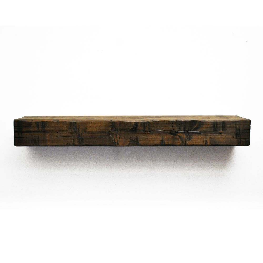 Dogberry Collections Rustic 72 In Dark Chocolate Mantel M Rust